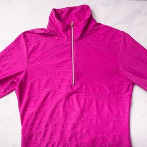 Medium LUCY Pink/Magenta Textured Athletic Jacket